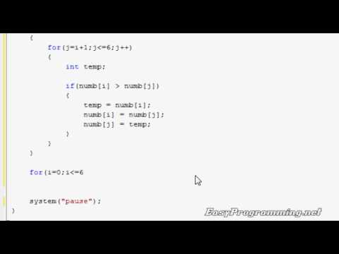 Easy Programming - Beginner C++ Tutorial - The Bubble Sort (23)