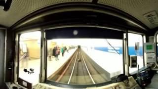 Синяя ветка Петербургского метрополитена 360 VR из кабины машиниста