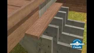Composite Deck Building - Stair Installation