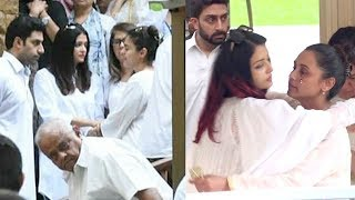 Watch Rani Mukherjee & Kajol's EMOTIONAL Moments wid Aishwarya Rai @Kajol's Father In Law's Funeral