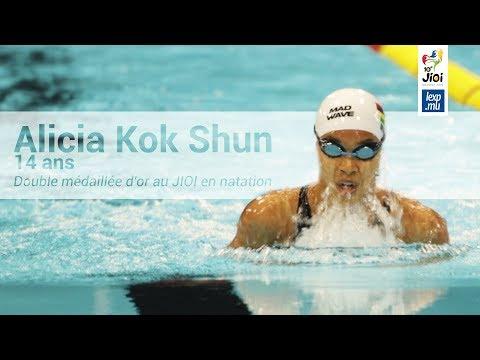 JIOI 2019  - Natation: Alicia Kok Shun double médaillée d'or à 14 ans