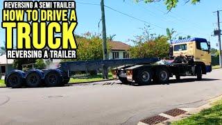 How To Reverse A Semi Trailer - Trailer Reversing - Heavy Combination