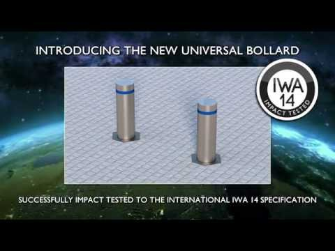 Frontier Pitts IWA14 Terra Universal Rising Bollard 7.2t@80kph Crash Test