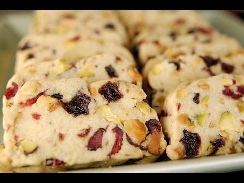 Cranberry Pistachio Shortbread Recipe Demonstration - Joyofbaking.com