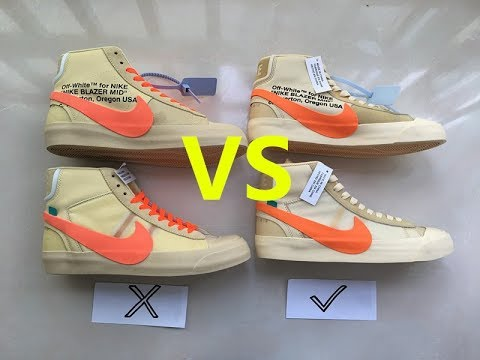quality design 94937 e34c3 Real VS Fake Off White x Nike Blazer