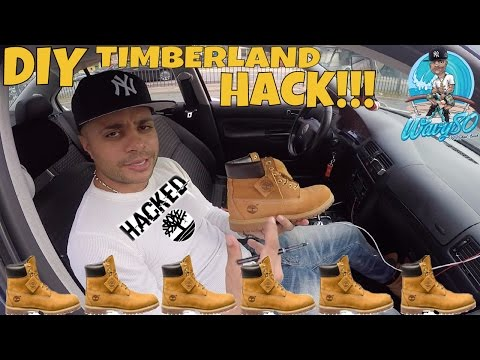 DON'T BUY TIMBERLANDS UNTIL YOU WATCH THIS VIDEO   EASY TIMBERLAND TREE CUSTOM