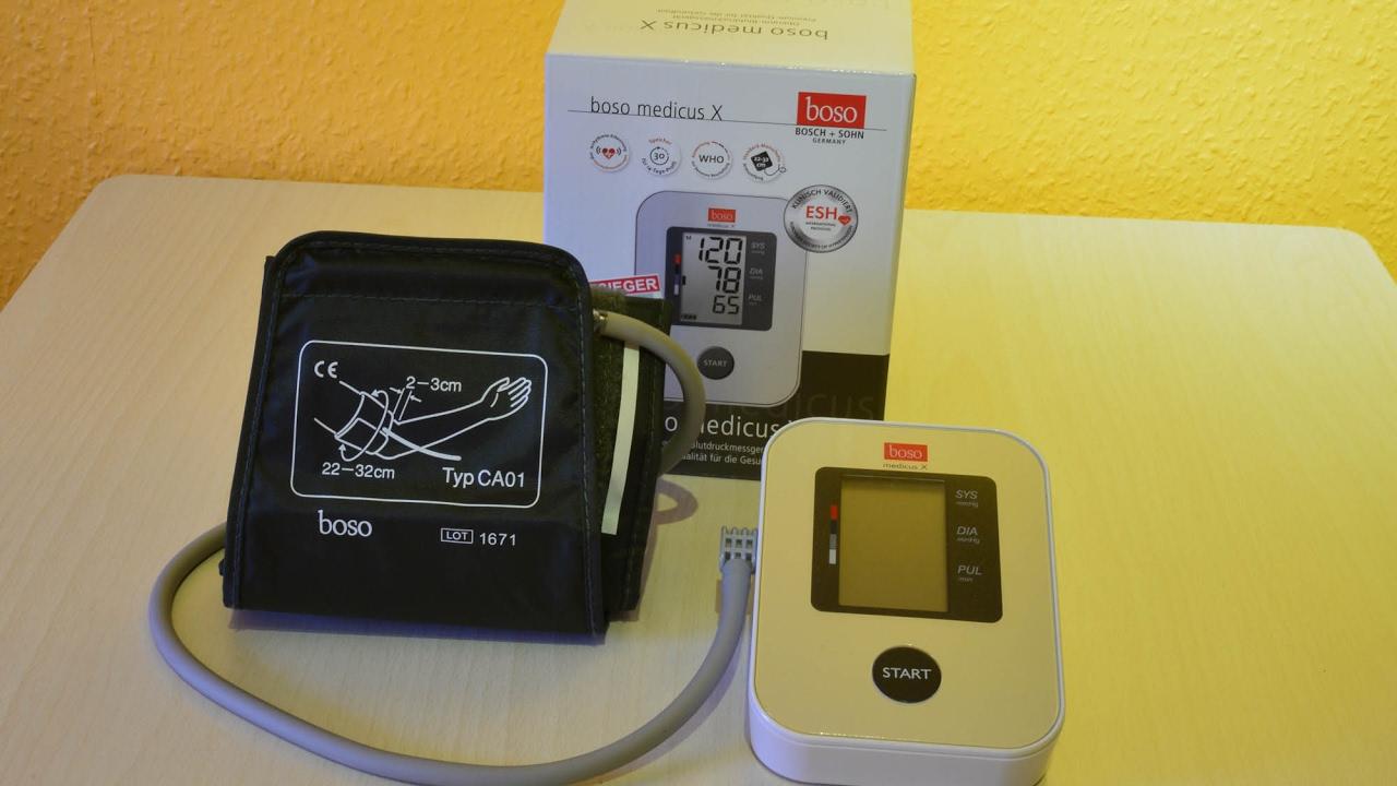 Boso Medicus X Blutdruckmessgerät Testsieger Stiftung Warentest