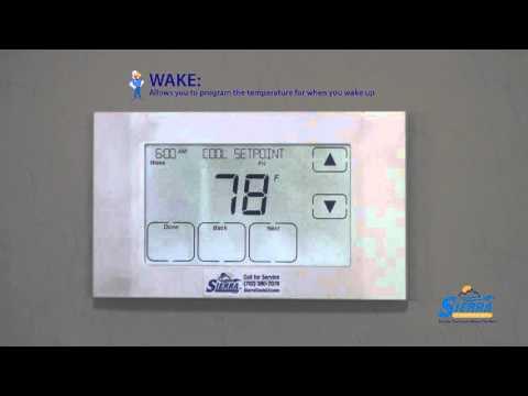 How to program your Trane 524 Touchscreen thermostat - YouTube