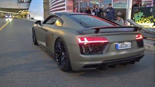 Supercars Accelerating LOUD! Audi R8 V10, Hamann BMW M6, Ferrari 488 GTB