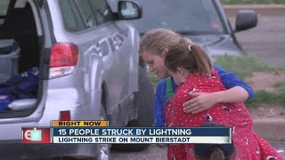 15 people, dog struck by lightning on mountain