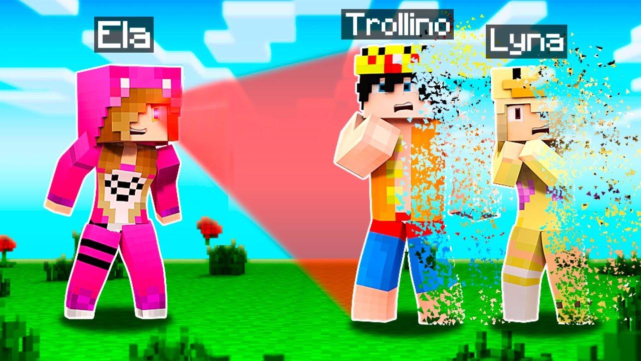 Minecraft pero TODO lo que MIRO MUERE al INSTANTE 😱💀 con ELTROLLINO y LYNA