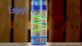 Spiral Blue Green Water Timer Desk Toy Background Screen Saver For Sleep 4K UHD 60 fps