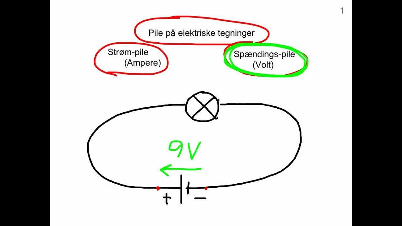 Strøm-pile og spændings-pile på kredsløbsdiagrammer - af Joe El