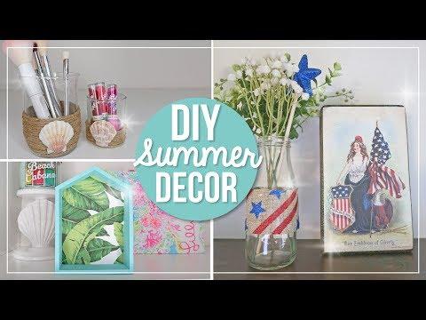 Summer DIY Home Decor Ideas | Beach & Patriotic 4th of July Easy DIY Crafts | Dollar Tree Decor