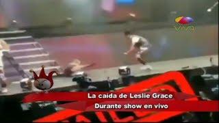 Leslie Grace cae como una guanabana en Show en Vivo - Los Dueños Del Circo Tv