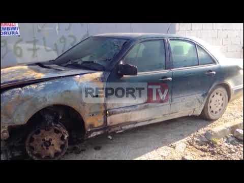 Report TV - Vlorë, punonjësit të policisë i djegin makinën në lagjen Pavarësia