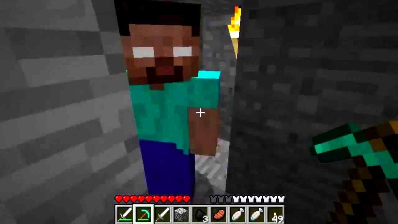 Minecraft 1 11 Spotkalem Herobrine Youtube