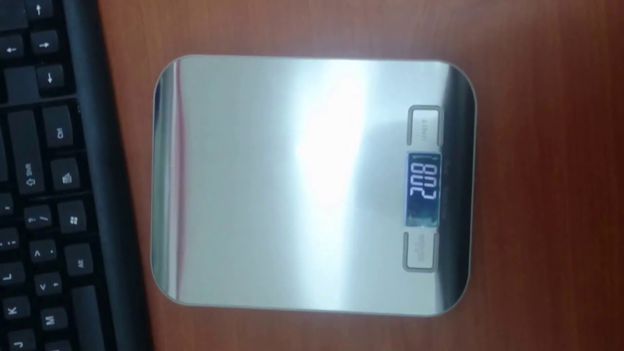Kitchen Scale SF- 2012 Not Resetting to ZERO (0) - YouTube