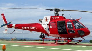 Airbus Helicopters AS350 do Bombeiros | Fire Helicopter Take Off | Rescue Helicopter Military #2