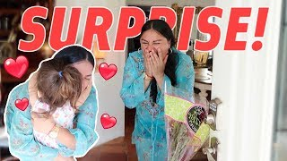 TRAVELED 3,000 MILES TO SURPRISE MY MOM!!! (she cried) thumbnail