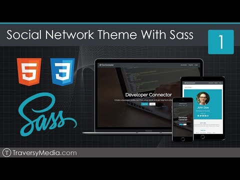 Social Network Theme With Sass - Part 1