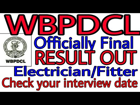 #WBPDCL_2018/09_result_out WBPDCL Result Out   Check Your Merit  Interview Date