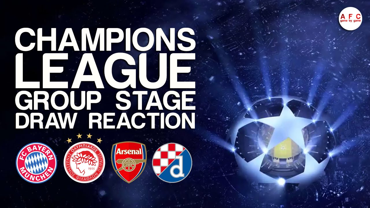 Champions League Group Stage Draw Reaction - YouTube
