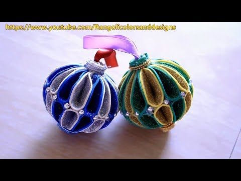 DIY Christmas decoration ornaments using glitter foam paper l Christmas decoration ideas l