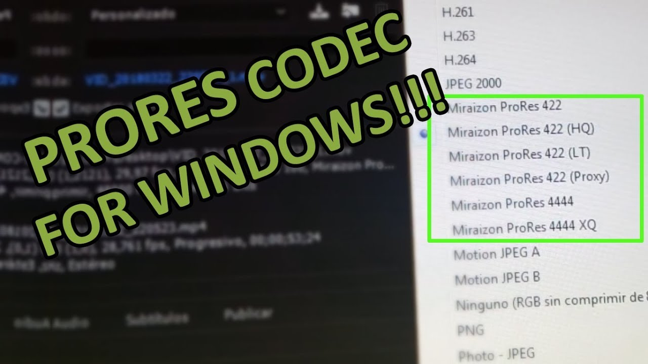 apple prores 422 codec for windows 7 download