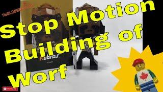 Stop Motion Building Worf Mega Construx Kubros