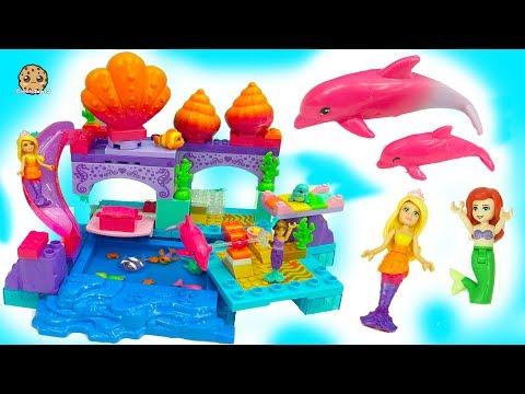 Barbie Princess Mermaid Lagoon - Color Changing Flipping Dolphin + Surprise Splashing Blind Bags