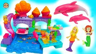 Barbie Princess Mermaid Lagoon - Color Changing Flipping Dolphin + Surprise Splashing Blind Bags