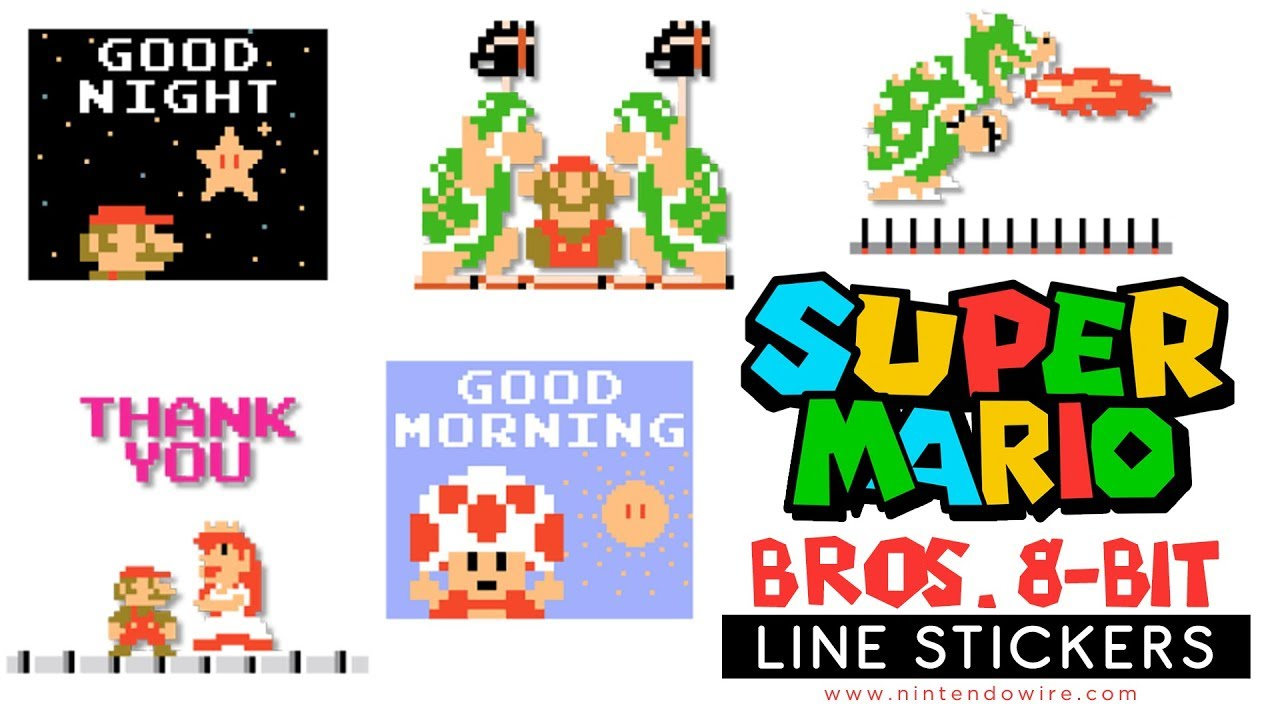 Super mario bros 8 bit animated stickers line sticker showcase