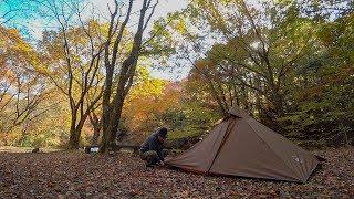 晩秋の川辺で鍋をつつくソロキャンプ【solo camping #57】