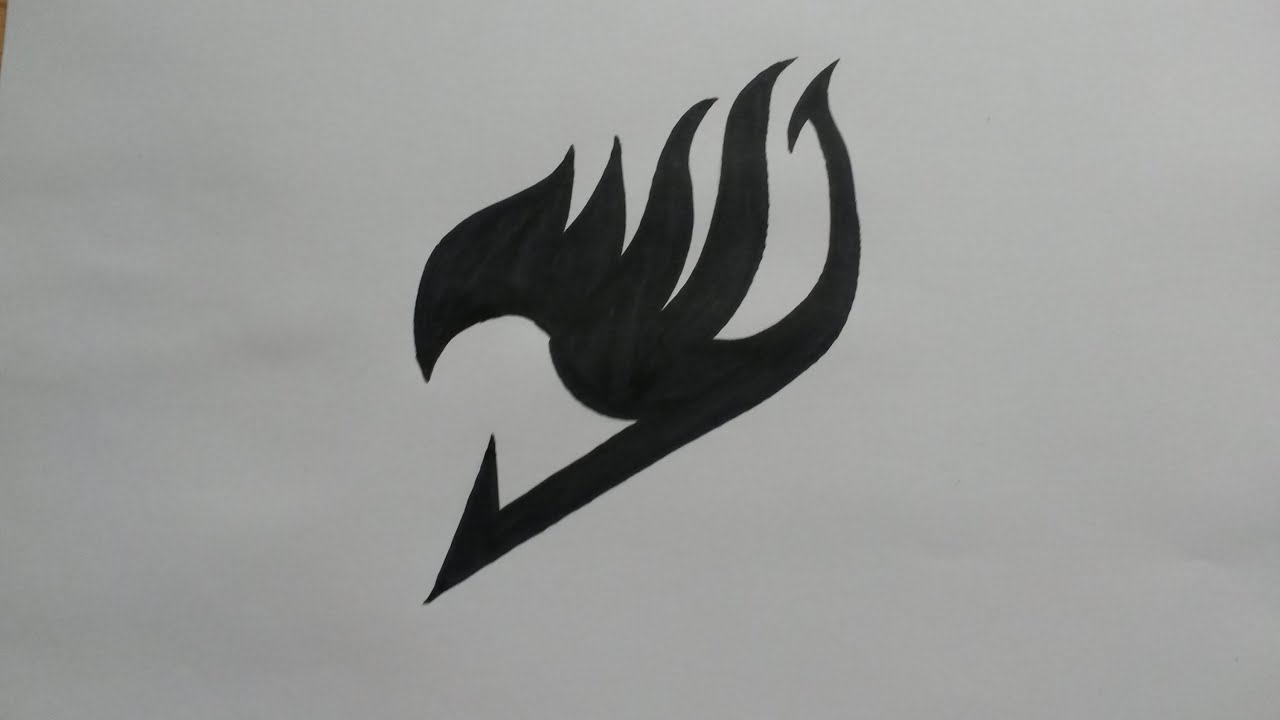 How To Draw The Fairy Tail Emblem Real Time Youtube