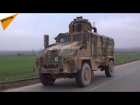 Turkish Military Vehicles Enter Syria's Aleppo