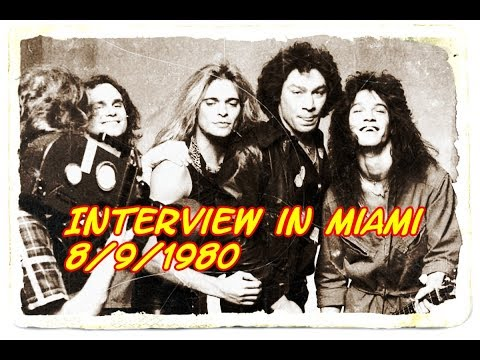 Rare VAN HALEN INTERVIEW, Miami, FL, Aug. 9, 1980