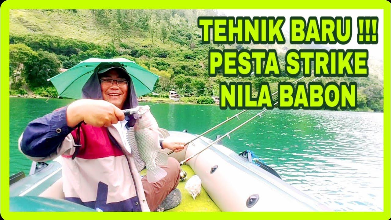 PART 3 || TEHNIK BARU || Tes Perahu || Mancing Di Tengah Danau Pesta Strike Nila Babon !!!
