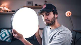 $40 DIY CAKE PAN LIGHT... Better than a $1000 video light?!?