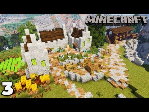 Building a Mine #3 Custom Village Housing : Minecraft 1.14 Survival Let's Play