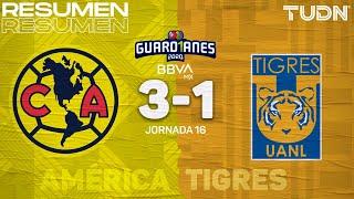 Resumen y goles | América 3-1 Tigres | Guard1anes 2020 Liga BBVA MX - J16 | TUDN