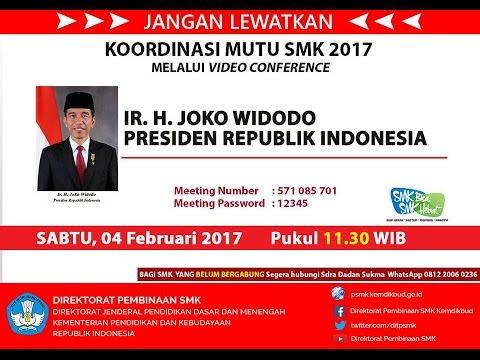 Video Conference Bersama Bapak Presiden Indonesia Ir. Joko Widodo