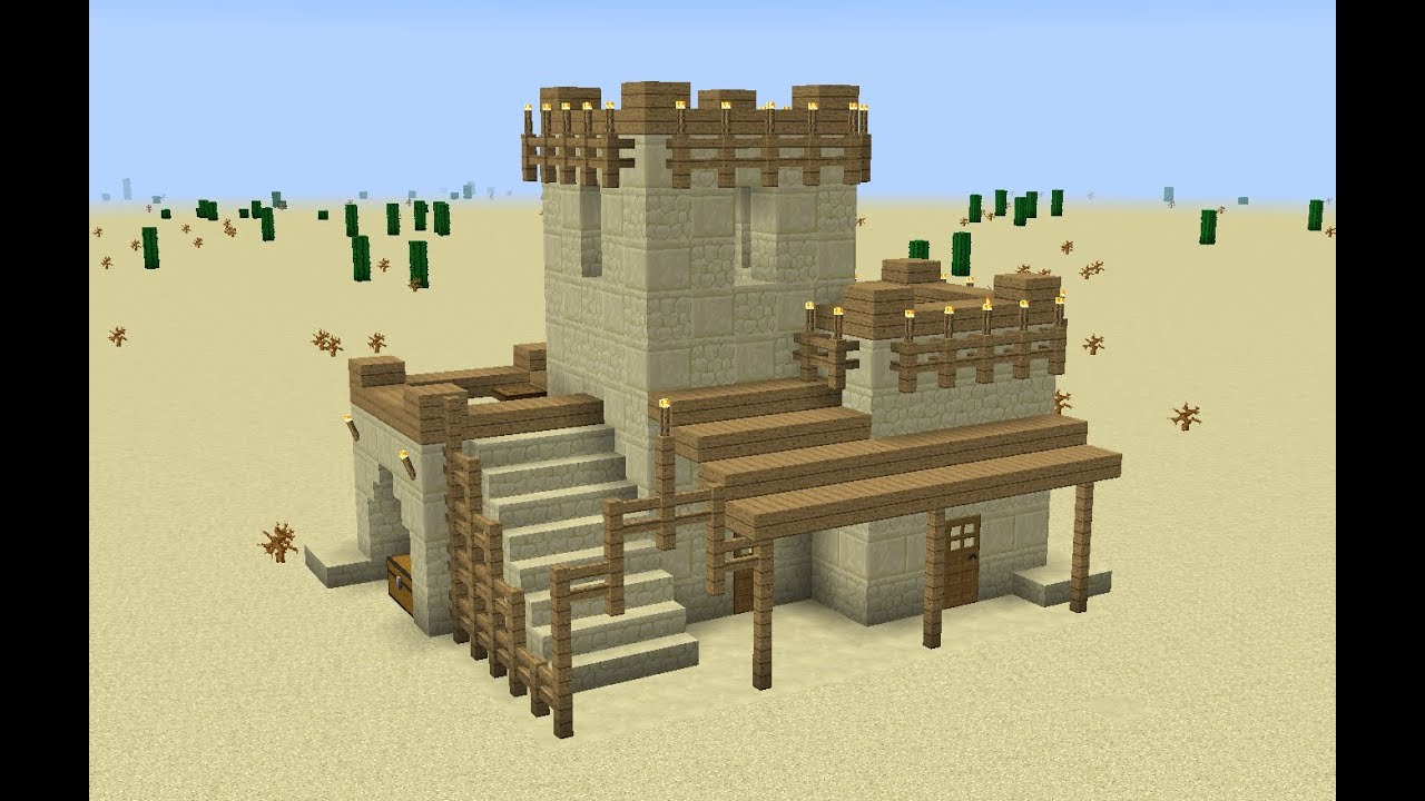 Minecraft: how to build a desert house