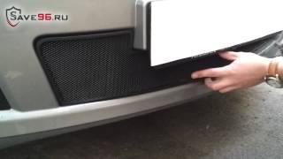 Защита радиатора на Nissan Tiida (Ниссан Тиида) 2010-2014 г.в.(, 2014-11-09T01:17:46.000Z)