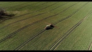 Tractor Spray Fertilize on Field with Chemicals in Agriculture Field. | Stock Footage - Videohive