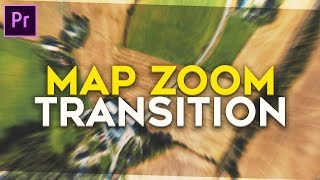 Easy Map Zoom/Fake Drone Transition Norsk Tutorial (Andreas Hem) - Premiere Pro