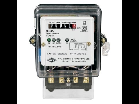 Single Phase KWH Meter Connection  Energy Meter kwh