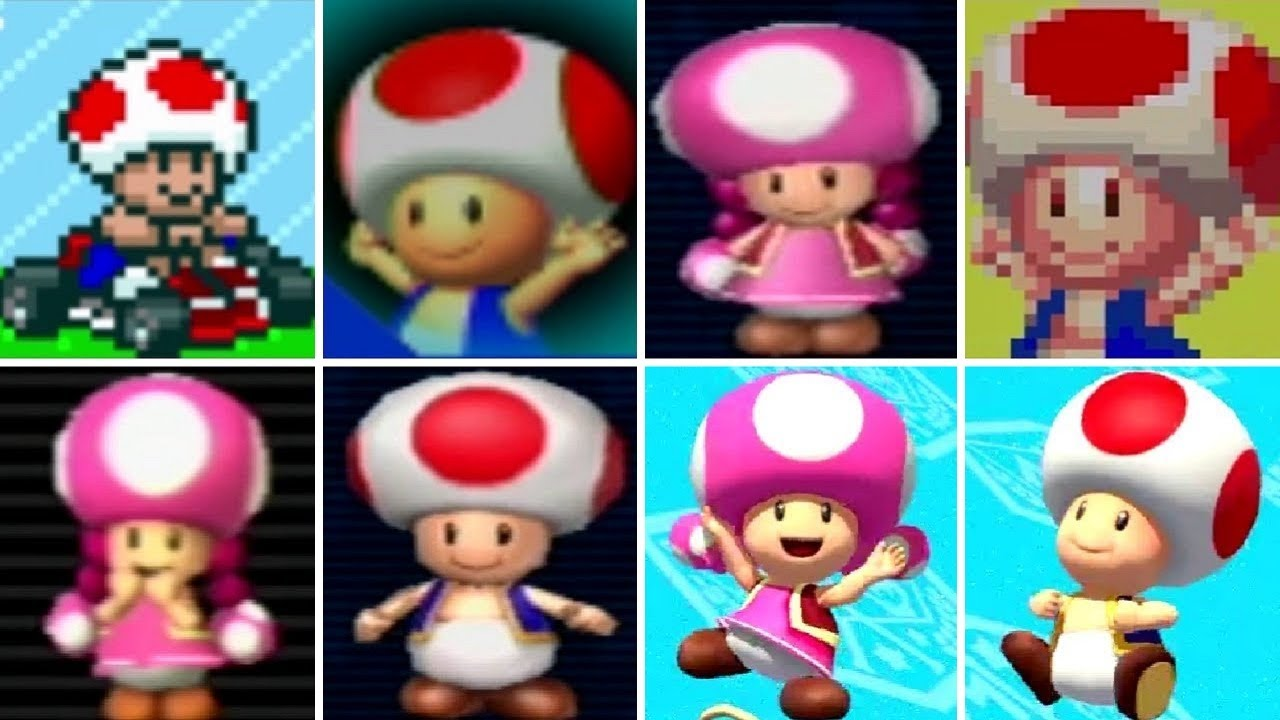 Evolution Of Toad Toadette In Mario Kart Games 1992 2017 Youtube