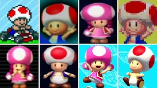 Evolution of Toad & Toadette in Mario Kart Games (1992-2017)