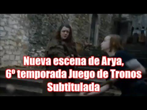 Nueva escena filtrada: Arya en la 6º Temporada de Juego de Tronos, subtitulada